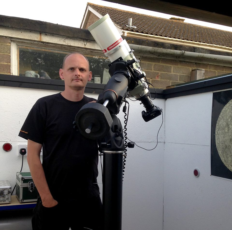 steve with telescope